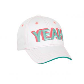 Girls White 'Yeah' Cap
