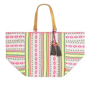 Womens Tribal Stripe Beach Bag