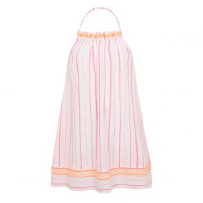 Teen Girl Pink Stripe Halter Dress