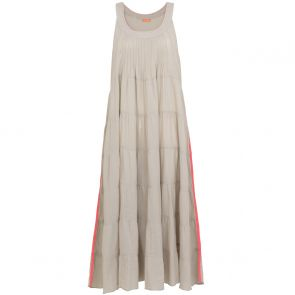 Womens Light Grey With Neon Strip Maxi Dress