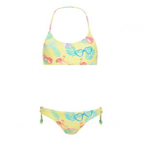 Girls Yellow Miami Shades Halter Neck Bikini