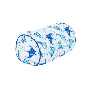 Boys White Mantaray Beach Pillow