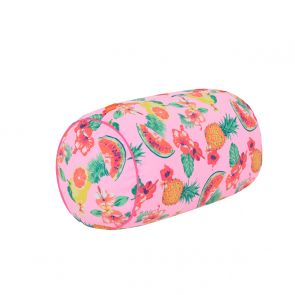 Girls Pink Aloha Fruit Beach Pillow