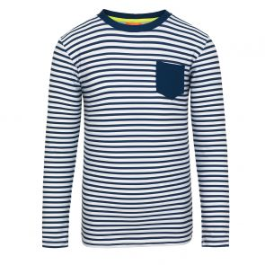 Boys Navy Sunuva Stripe Long Sleeve Rash Vest