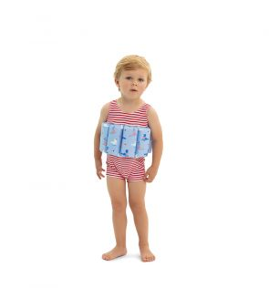 Boys Red Sailor Seal Float Suit