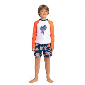 Boys Octopus Long Sleeve Rash Vest