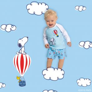 Baby Boys Blue Snoopy Swim Shorts
