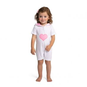 Baby Girls White Towelling Onesie