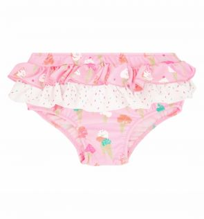 Baby Girls Pink Ice Cream Frill Nappy Pant