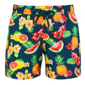 Boys Teal Aloha Fruit Swim Shorts