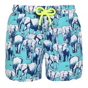 Boys Blue Elephant Swim Shorts