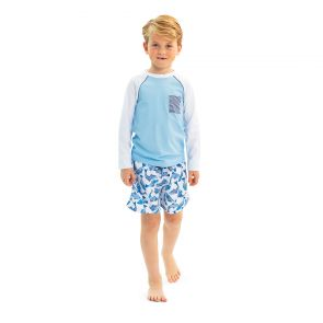 Boys Blue Long Sleeve Rash Vest