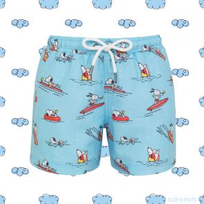 Boys Blue Snoopy Swim Shorts