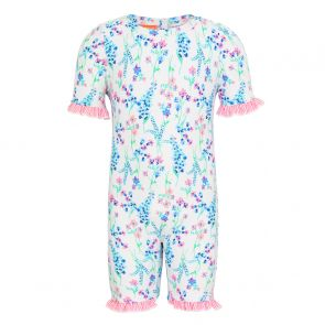 Baby Girls White English Floral Sun Suit
