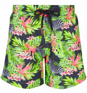 Mens Green Jungle Swim Shorts