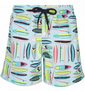 Mens Green Vintage Surf Swim Short