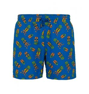 BOYS BLUE PINEAPPLE SWIM SHORTS