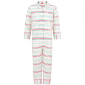 Girls Multi-coloured Stripe Pyjama Set