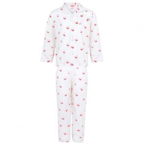 Unisex White Watermelon Whale Pyjama Set