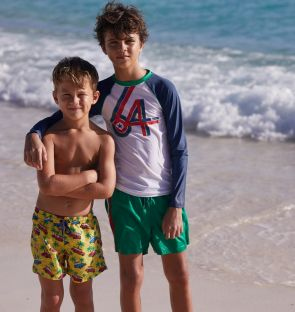 Boys Yellow Road Trip Swim Shorts