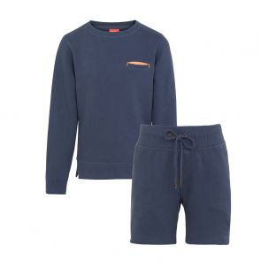 Boys Navy Neon Detail Sweat Set