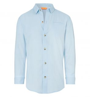 Boys Baby Blue Cotton Shirt