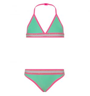 Girls Green Rainbow Star Triangle Bikini