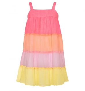 Girls Pink Tiered Dress
