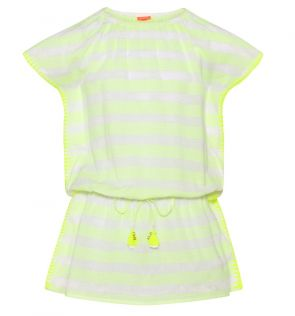 Girls Neon Yellow Boho Dress