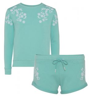 Girls Aqua Sweat Set