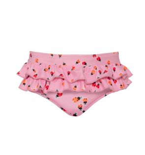 Baby Girls Pink Ladybird Frill Nappy Pant