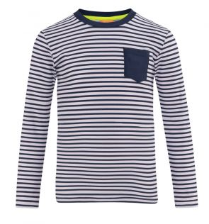 Boys Shrimpy Navy Classic Long Sleeve Rash Vest