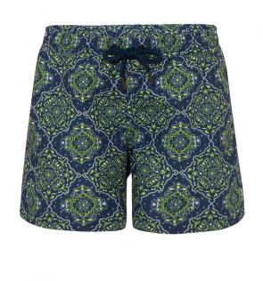 Boys Navy Bandanna Swim Short