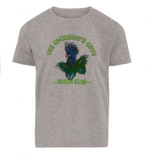 Boys Grey Cockatoo Cotton T-Shirt