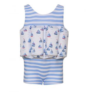 Boys Blue Little Boats Floatsuit