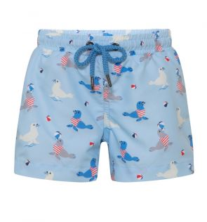 Baby Boys Blue Sailor Seal Swim Short