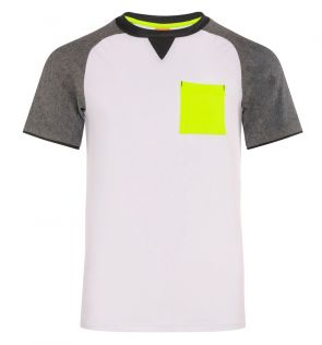 Youth Boys White Java Short Sleeve Raglan Rash Vest