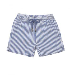 Baby Boys Blue Stripe Cotton Short