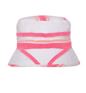 Girls Pink Multistripe Canvas Hat