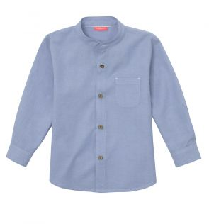 Baby Boys Blue Long Sleeve Shirt