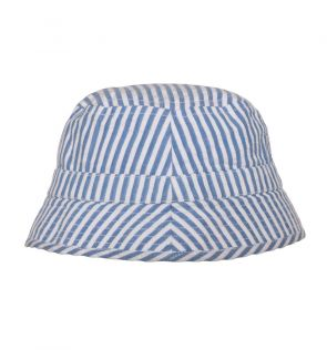 Boys Blue Stripe Bucket Hat