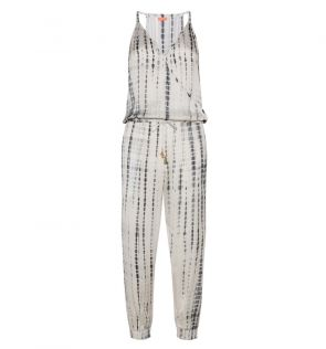 Womens Grey Tie Dye Jumpsuit