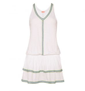 Womens White Jersey Dress