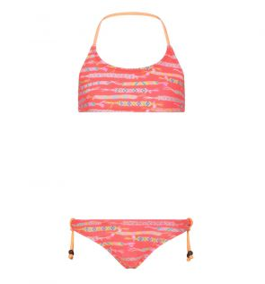 Girls Orange Friendship Bracelet Halter Bikini