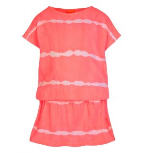 Girls Pink Tie Dye Jersey Dress