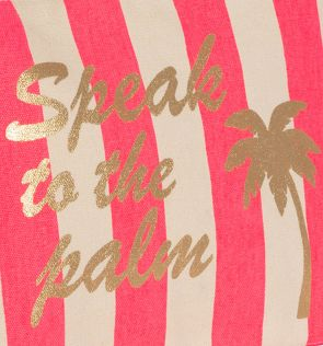 Girls Pink Speak to the Palm Washbag