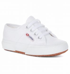 Superga Kids Classic White Trainers