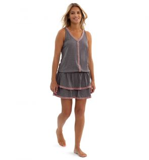 Womens Grey Jersey Dress