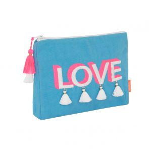 Girls 'Love' Tassel Washbag