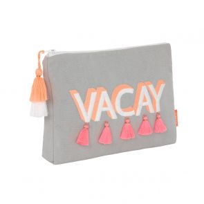Girls 'Vacay' Tassel Washbag